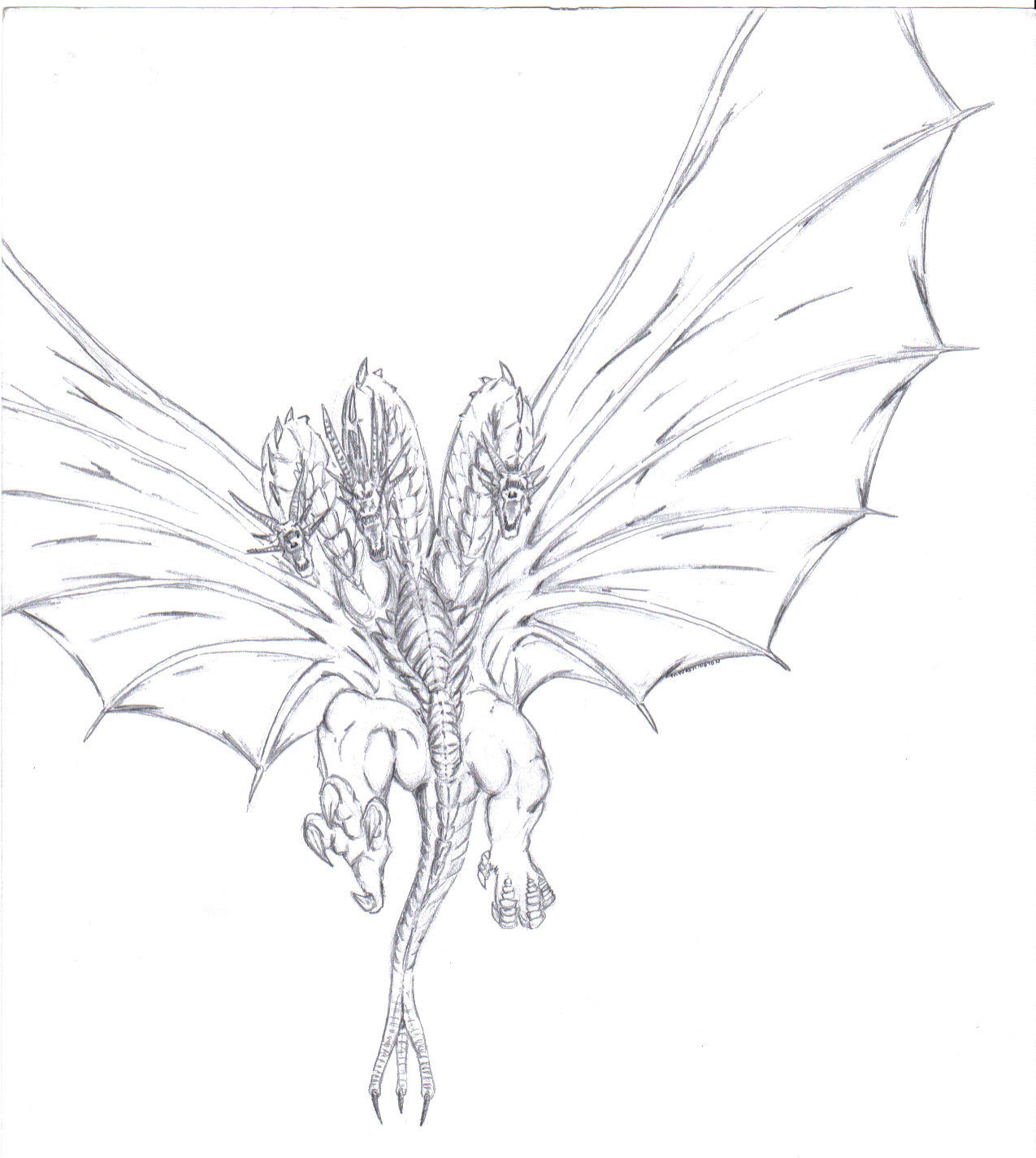 King Ghidorah by MikeDastardly on deviantART