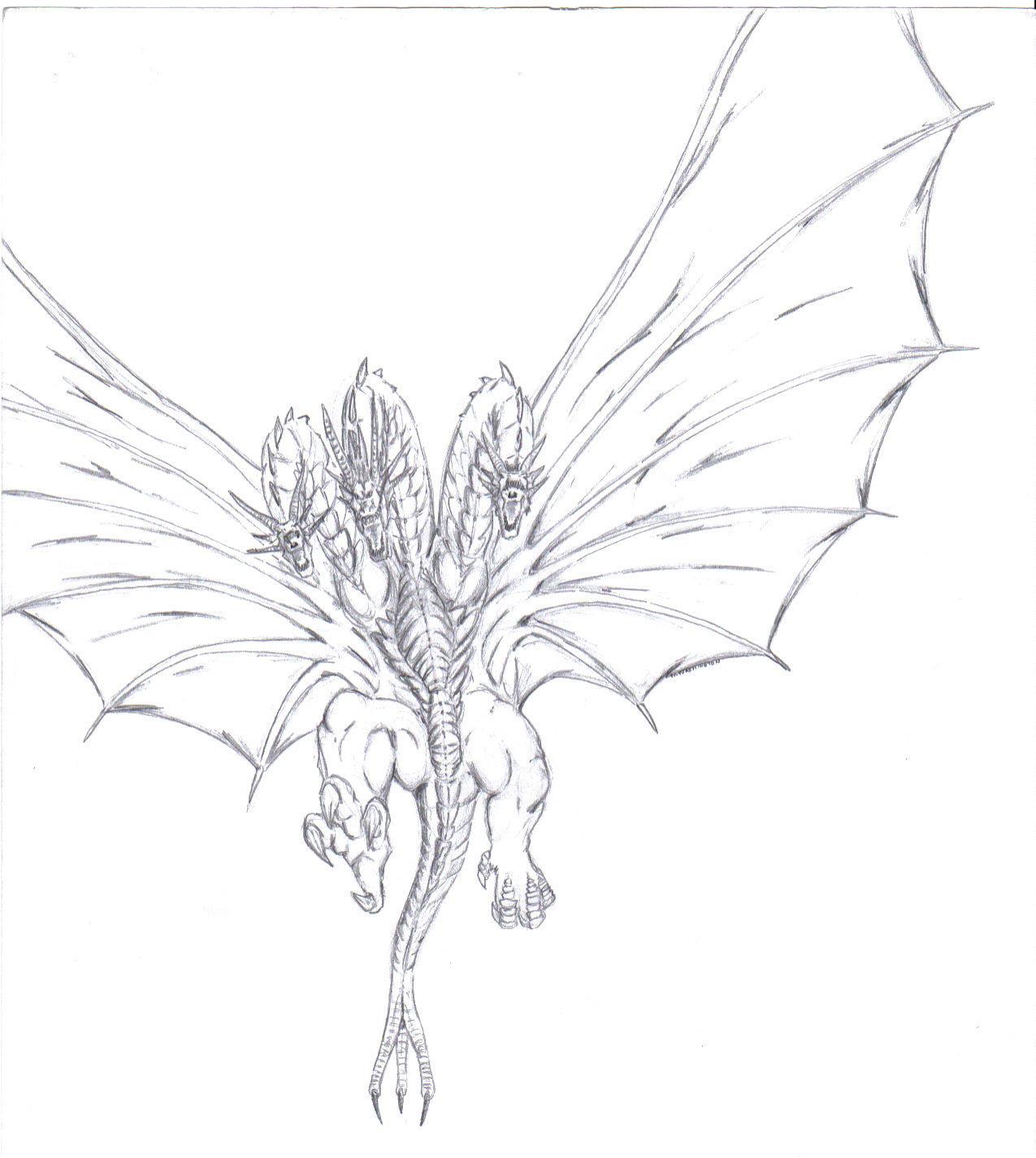 King Ghidorah by MikeDastardly on deviantART