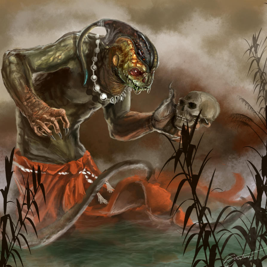 Reptile With Skull By Emonteon On DeviantArt
