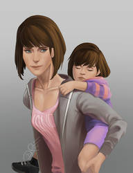 Max Caulfield and Frisk