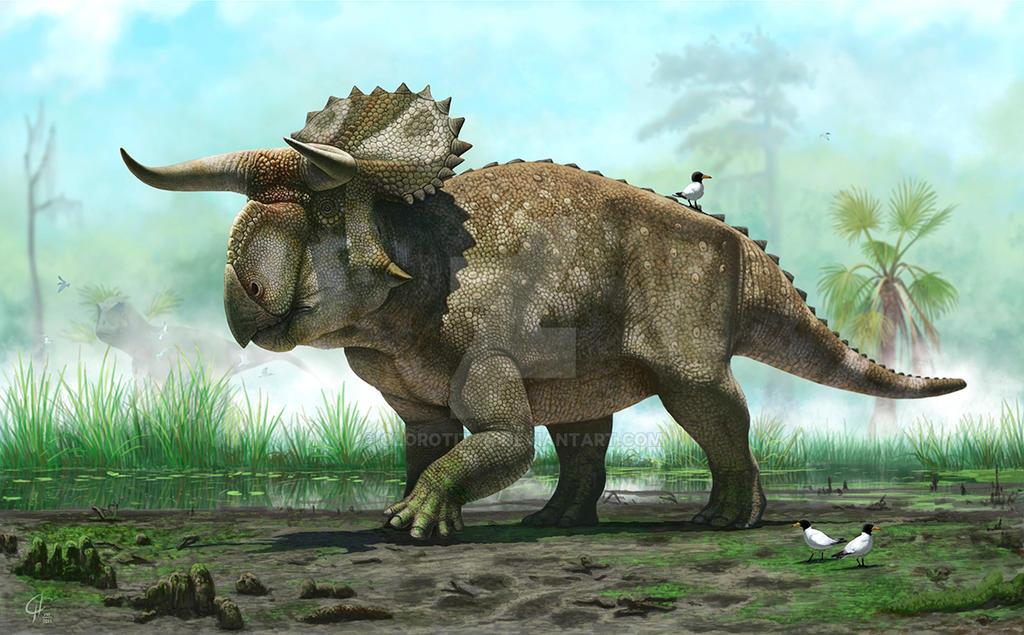 Nasutoceratops titusi by Olorotitan