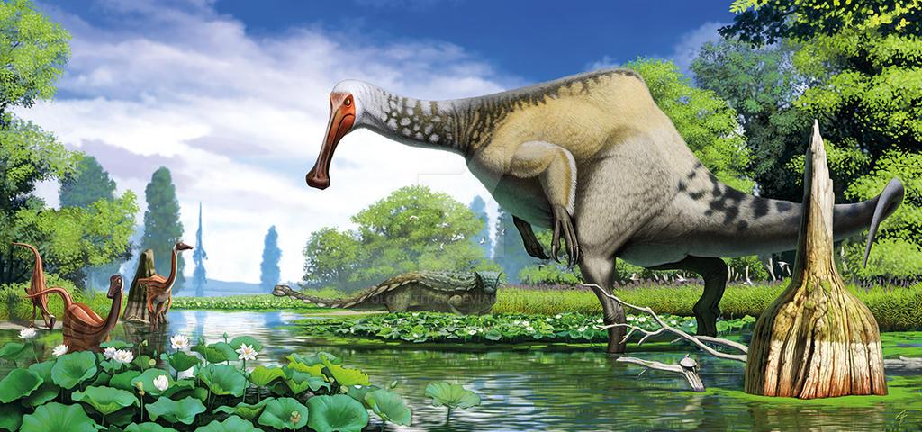Deinocheirus mirificus by Olorotitan
