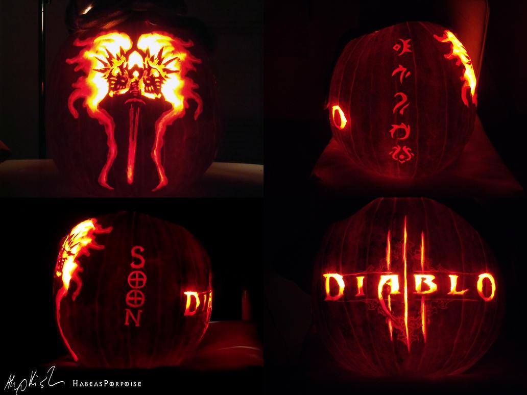 Diablo 3 Pumpkin by habeasporpoise