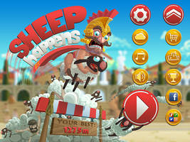 Main menu for Sheep happens game