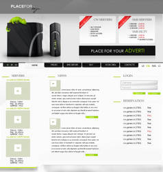 game servers page by joccedesign