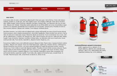 Fire Extinguisher sell page by joccedesign