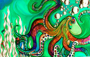 Psychedelic Octopus by Master-Of-Puppets12