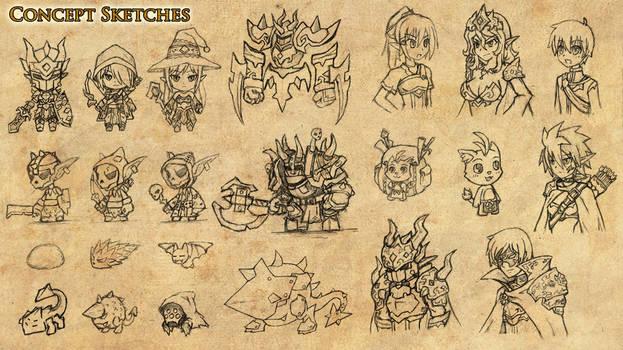 Game Concept Sketches