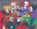 Horror Clowns Poker Game