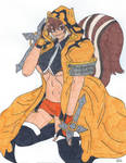 Makoto Wearing Terumi's Cloak