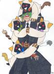 Hazama hugged by Kaka Kittens