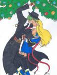 Hazama x Noel Mistletoe Kiss