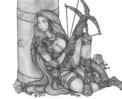 Leetah - Halfling Rogue/Fighter/Shadowdancer by s0ulafein