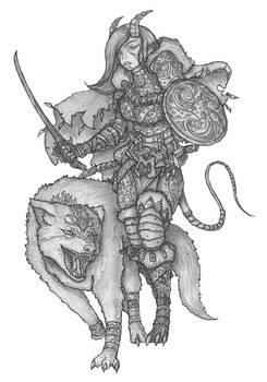 [COMMISSION] Lilli Ardat - Tiefling Hunter
