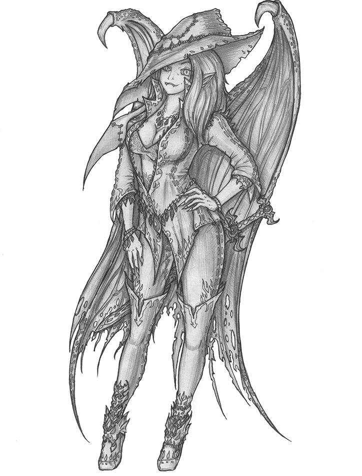 [COMMISSION] Erian - Pixie Vampire by s0ulafein