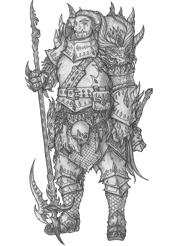 [COMMISSION] Maran - Half-Orc Marshal