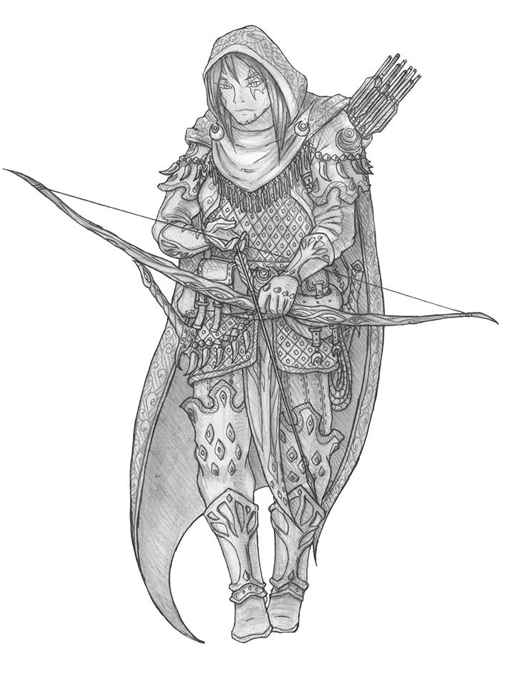 [COMMISSION] Jerusai Valenwood - Elf Ranger