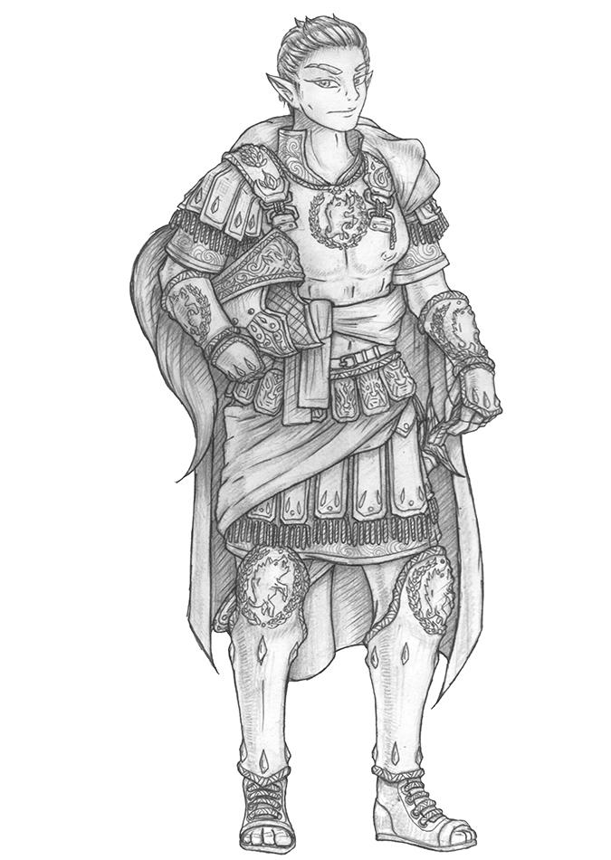 [COMMISSION] Marius - Elven General