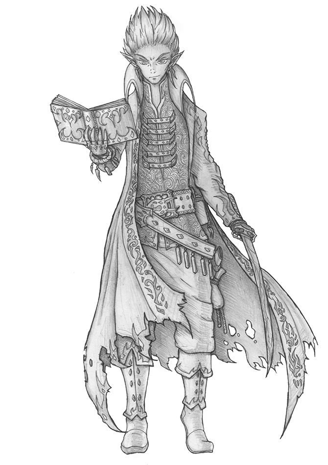 [COMMISSION] Zaru - Drow Wizard
