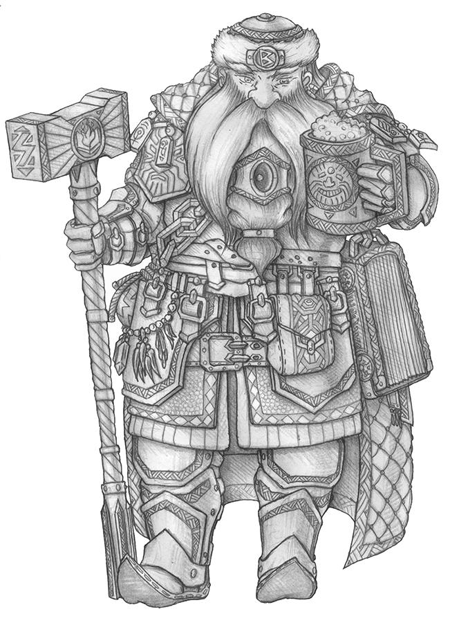 [COMMISSION] Thirir - Dwarf Warlock