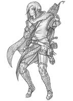 Arek - Wood Elf Cleric by s0ulafein