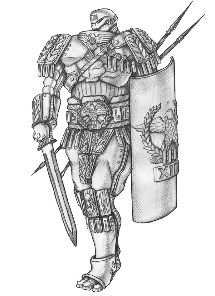 [COMMISSION] Thirteen - Warforged Fighter