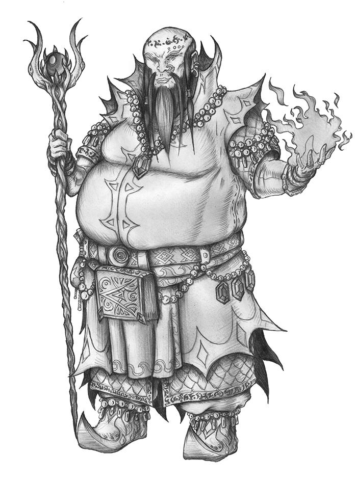 [COMMISSION] Bezren Abaya - Human Wizard