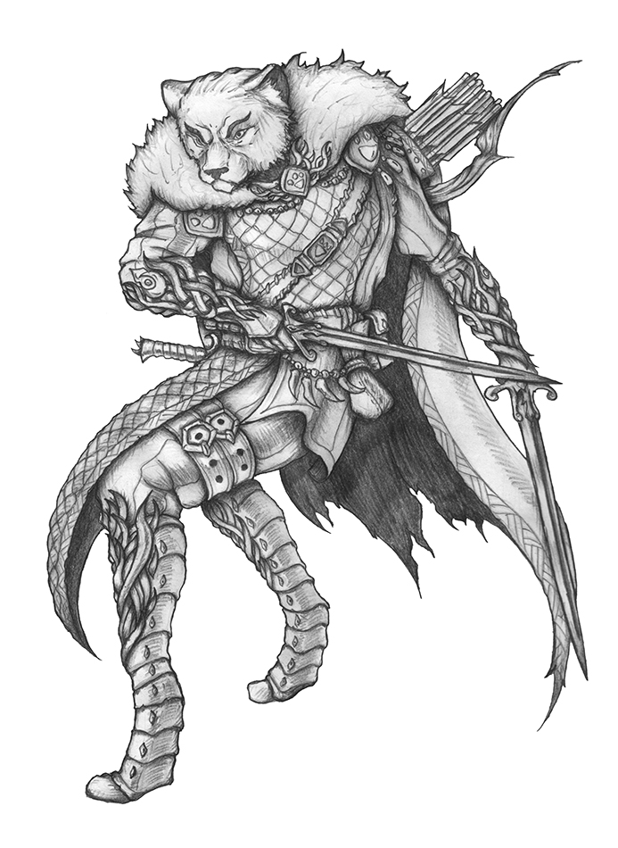 COMMISSION] Shadowed Glade - Tabaxi Ranger by s0ulafein on