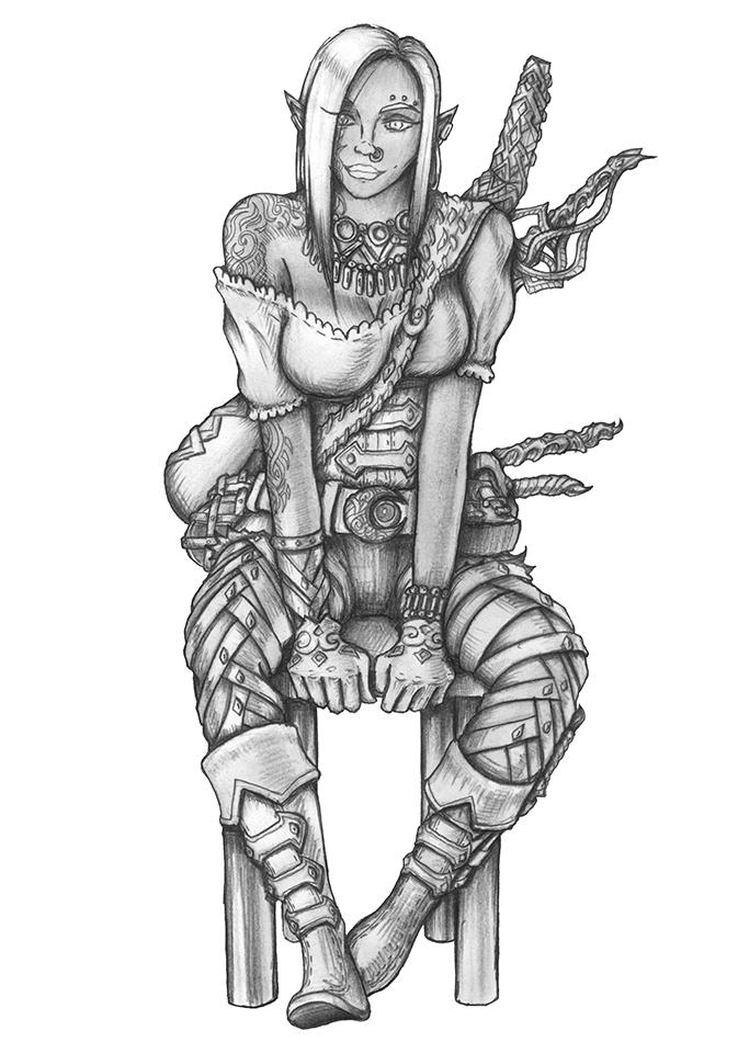 Kana Unvred - Dark elf Bard