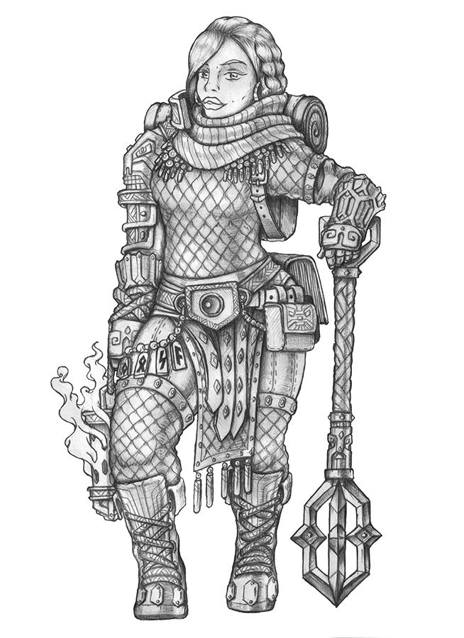 [COMMISSION] Luella - Dwarf Cleric