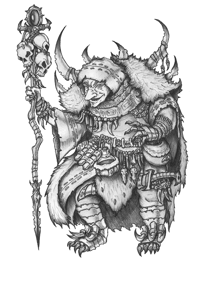 [COMMISSION] Staax - Goblin Sorcerer