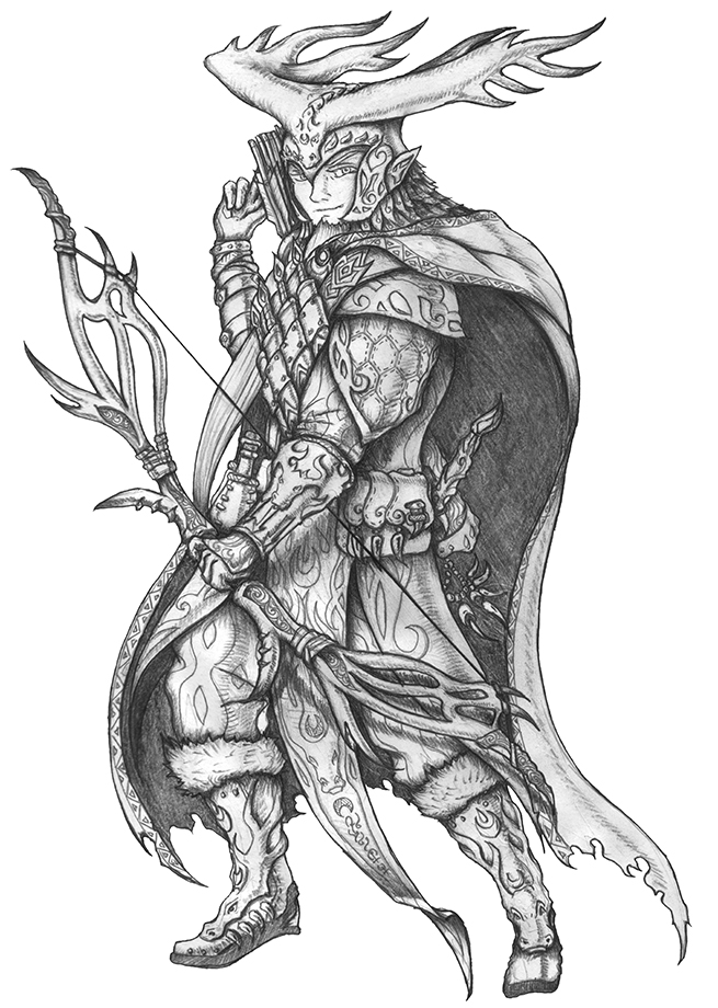 [COMMISSION]Anthellus Ettinsbane - Half-elf Ranger