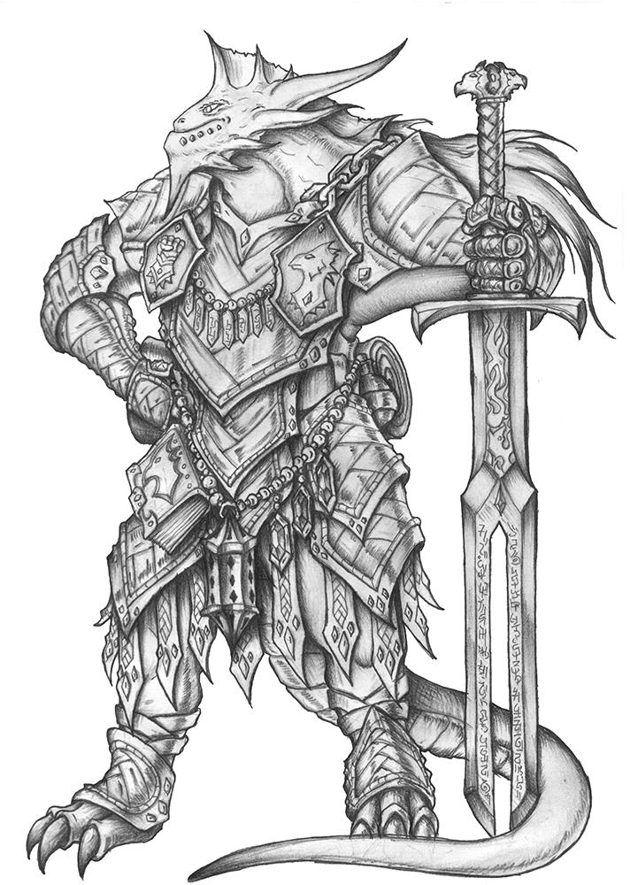 Ravodaar Farnuus Silver Dragonborn Paladin By S0ulafein