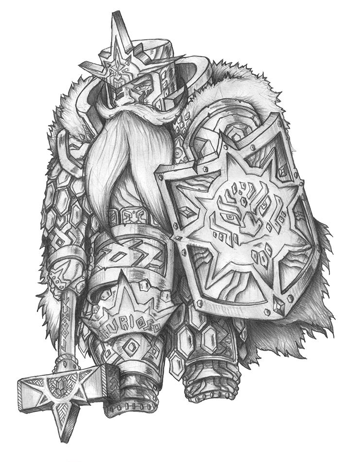 [COMMISSION] Simber Rud - Dwarf Cleric of Pelor