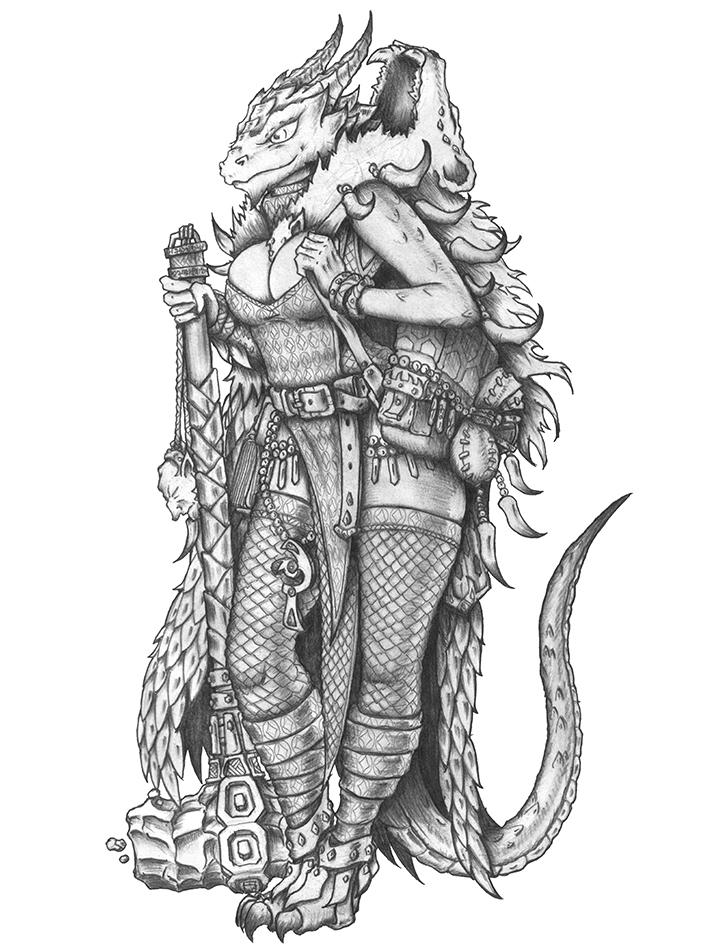 [COMMISSION] Nilaori 2.0 - Dragonborn Cleric