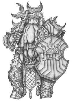 [COMMISSION] Gowan - Dwarf Fighter