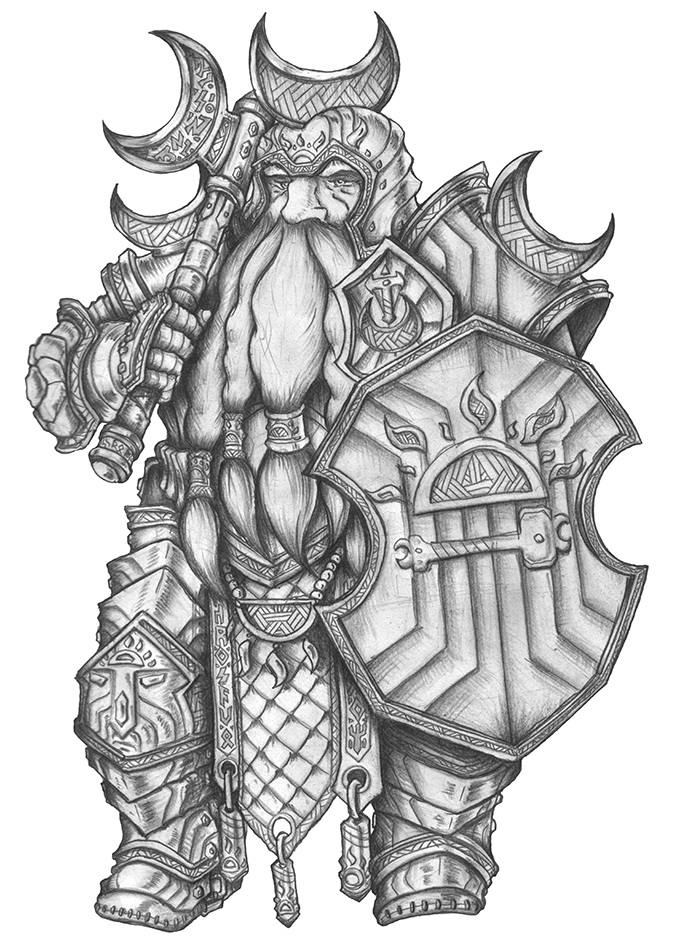 [COMMISSION] Gowan - Dwarf Fighter by s0ulafein