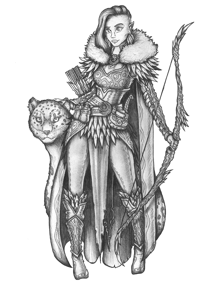 [COMMISSION] Amaryllis - Wood Elf Ranger by s0ulafein