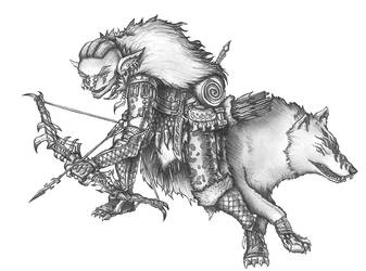 [COMMISSION] Gelugon - Goblin Ranger by s0ulafein