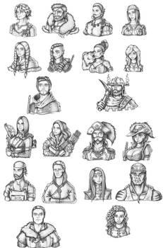 [COMMISSION] NPC Portraits Batch