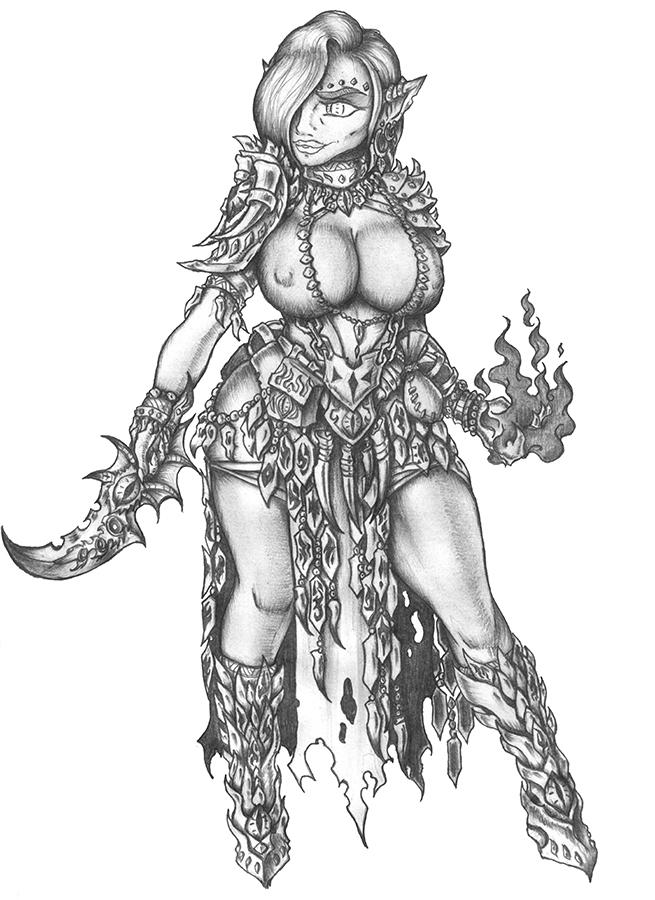 [COMMISSION] Izzat - Goblin Warlock