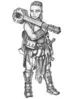 Hedda Ironlute - Dwarf Valor Bard by s0ulafein
