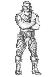 Wolfgar - Half-orc Innkeeper by s0ulafein