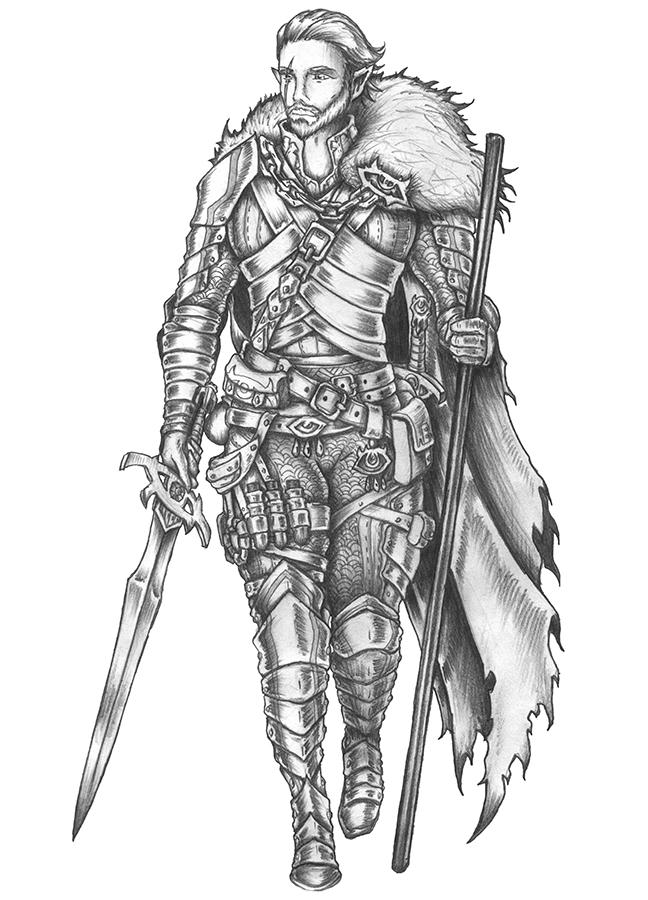 [COMMISSION] Alverein De Nelethas - Elf Warlock