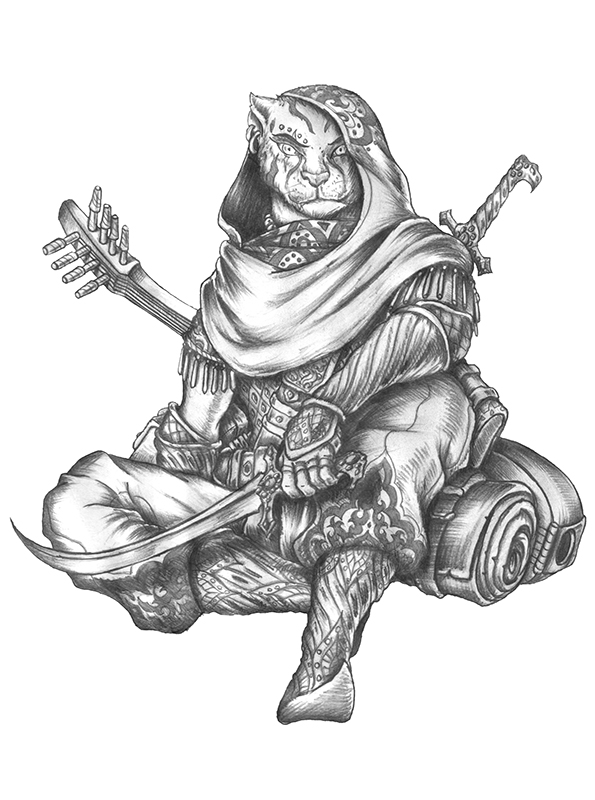 [COMMISSION] Sand - Tabaxi Bard