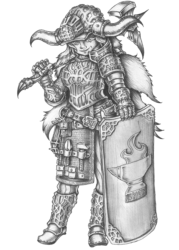 [COMMISSION] Almedia - Dwarf Cleric of the Forge