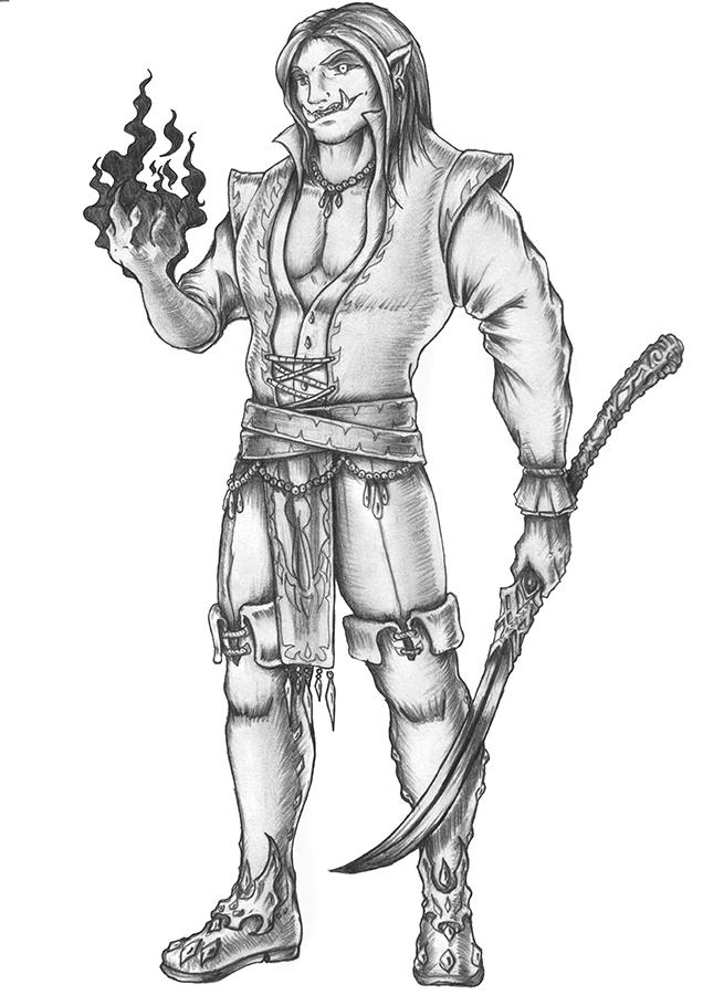 [COMMISSION] Seskel Grimbash - Orcish Vampire