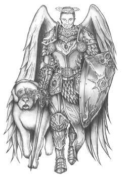 [COMMISSION] Arius the Hallowed - Aasimar Paladin
