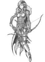 [COMMISSION] Clair de Lune - Wood Elf Warlock by s0ulafein