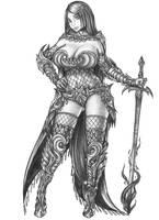 [COMMISSIO]Masuyama Ryoko - Human Hexblade Warlock by s0ulafein